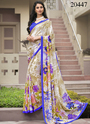 Printed Crepe Saree