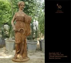 Lady Cast Iron Statues
