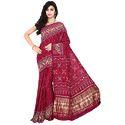 Bandhej Red Print Saree