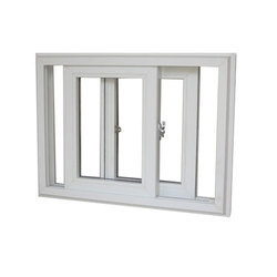 2 Track UPVC Sliding Windows, Glass Thickness: 5 Mm
