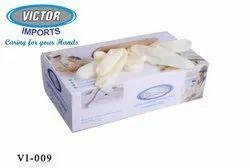 Rubber White Powder Free Gloves