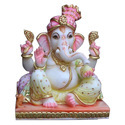 Marble Ganesh Sitting Statue