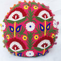 Dark Pink Round Cushion