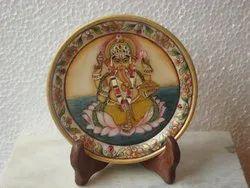 6 Inch Ganpati Miniature Plate