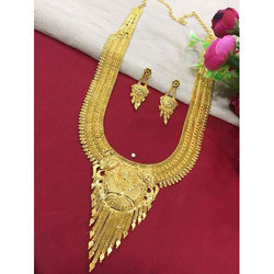 Wedding Wear Gold Plated Necklace Set
