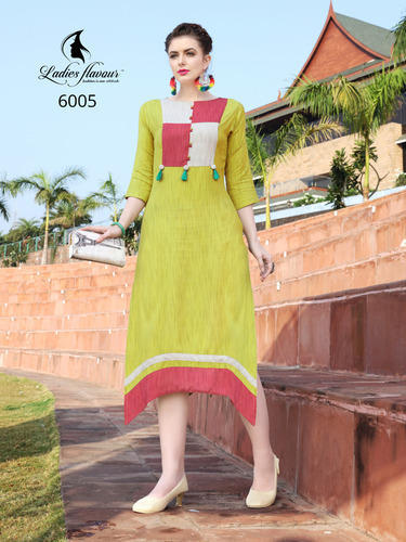 497fe46588 NYRA by Ladies Flavour New Arrival Khadi Rayon Kurtis Collection ...