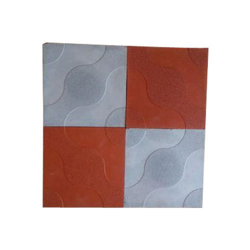 Red And Grey Concrete Chequered Floor Tiles