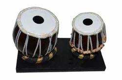 Wood Tabla Miniature Showpiece Handicraft