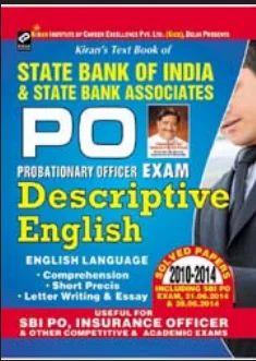 Kiran Prakashan SBI Po Descriptive English Book - Kiran