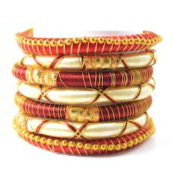 Indian Handcraft Neon Multipal Colours Silk Thread Bangles