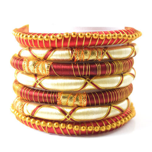 f50fe5c3a4cdd Indian Handcraft Neon Multipal Colours Silk Thread Bangles