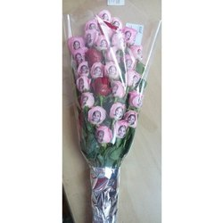 Printed Roses Hand Bouquet