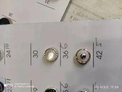 White Designer Button