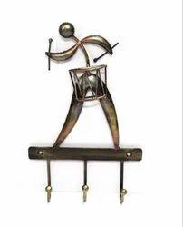 Handcrafted Iron U-Hand Drum Key Hanger