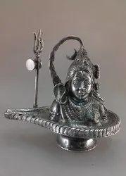 Silver Ardhanarishvara Statue