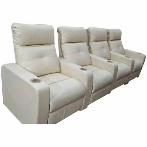 White Recliner Sofa