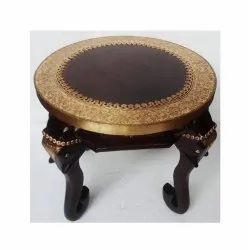Wooden Centre Table With Metal Fitted