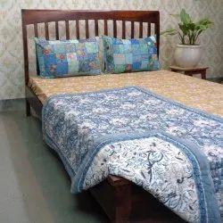Multicolor Cotton Voile (Stuffed Cotton) Premium Jaipuri Razai (Baby), Dimension / Size: 40x60, Size: Baby Quilt