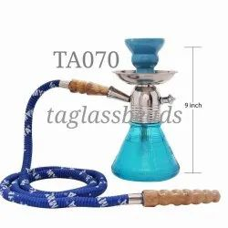 Glass With Metal Hookah