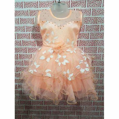 d93686307 Cotton Floral Print Kids Net Frock