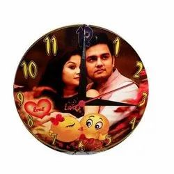 White Anniversary Mdf Sublimation Clock, Size: 20*20*0.5cm, for Home