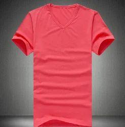Red V-Neck Men's T Shirt