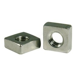 Galvanized Mild Steel Square Nut, Packaging Type: Box