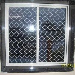 Smart Fit Silver Aluminium Window Grill, For Home