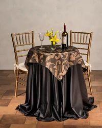 Kinkob Heavy Lycra Round High Table Cover Underlay, Size: Diameter 108