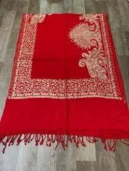 Embroidered Border Pashmina Kashmiri Silk Stole