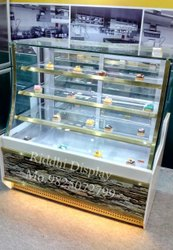Curved Glass Display Counter, For Commercial