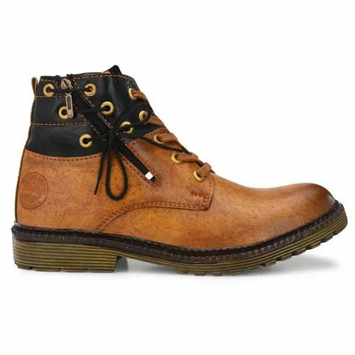Casual Wear Lace Up Mens Tan Leather