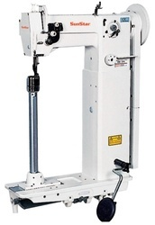 High Slim Post Bed, 1-Needle Unison Feed Lock Stitch Machine