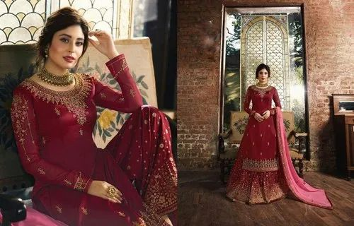 c83efaada0 Fiona Unstitched Georgette Fancy Suits, For Casual/Party Wear, Machine wash