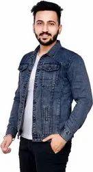 Full Sleeve fabric Men Denim Jacket, Size: Large