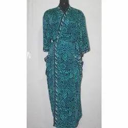 Vintage Pure Silk Sari Long Kimono Bath Robe