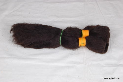 SGI HAIR Natural color Non Remy Hair Bulks From Indian Human Hair, Pack Size: 1 kg / Bundle