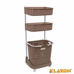 Klaxon Plastic Laundry Basket