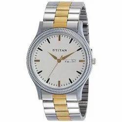Round Analog Silver Wrist Watch
