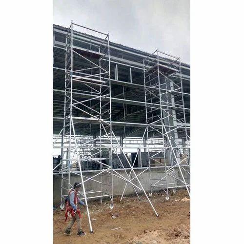 Scaffold Ladder - Aluminium Double Width Scaffold Ladder