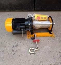 Mini Electric Wire Rope Winch 1 Ton x 60 Mtr