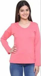 Plain Cotton T Shirt,Stylish Women