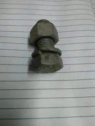 Galvanized Iron Hot Dipped Galvanised Bolt Nut, 12, 16 20 Mm