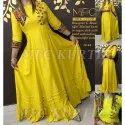 Designer Yellow Ladies Kurti
