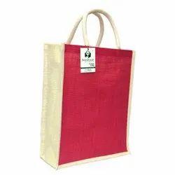 Plain Short Cotton Padded Executive Jute Bag