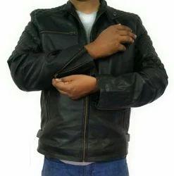 Finetouch Black Biker Leather Jacket FT 101