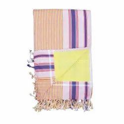 Handmade Cotton Kenyan Kikoy Terry Towel With Fringe