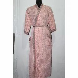 Women's Silk Long Kimono Bath Robe Sari Gown Dress