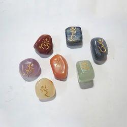 Engraved Chakra Stone Reiki set