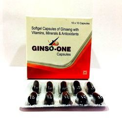 Ginseng Vitamins Minerals Soft Gel Capsules